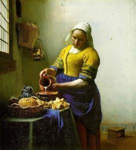 Johannes Vermeer, The Milkmaid, ca. 1658
