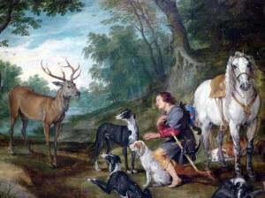 Peter-Paul-Rubens-e-Jan-Brueghel-o-Velho.-Visão-de-Santo-Huberto.-Óleo-sobre-madeira-c.1617-1620.-Detalhe