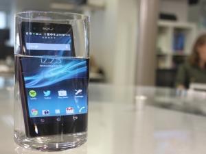 Sony Xperia Z, à prova de água.